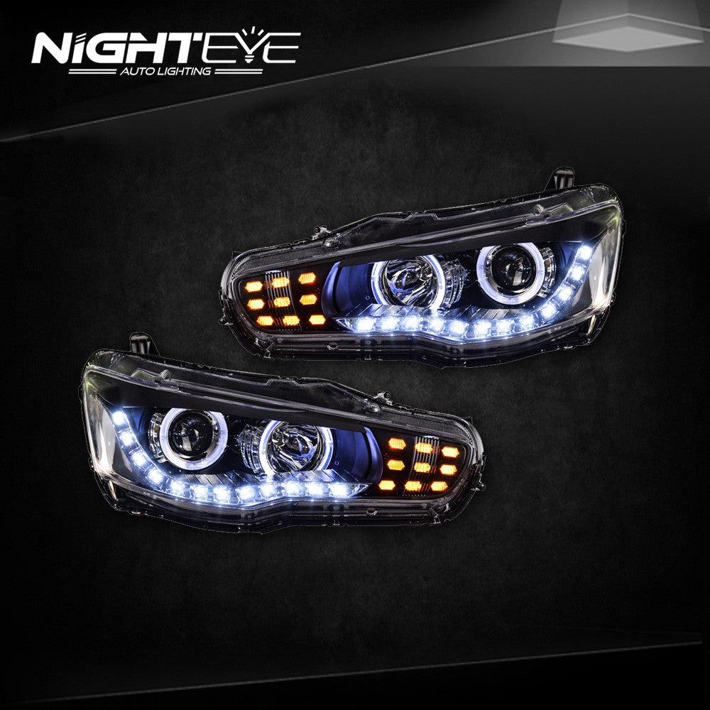 NightEye Mitsubishi Lancer Headlights 2009-2014 Lancer EX LED Headlight