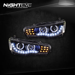 NightEye Car Styling for Mitsubishi Lancer Headlights 2009-2014 Lancer EX LED Headlight LED DRL Bi Xenon Lens High Low Beam Parking - NIGHTEYE AUTO LIGHTING
