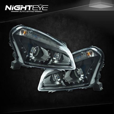 NightEye Nissan Qashqai Headlights Europe Design LED Headlight