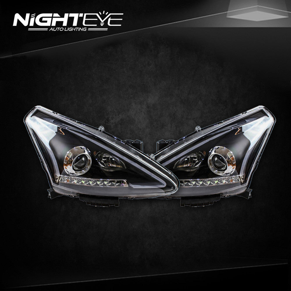 NightEye Nissan Tiida Headlights 2012-2015 New Tiida LED Headlight