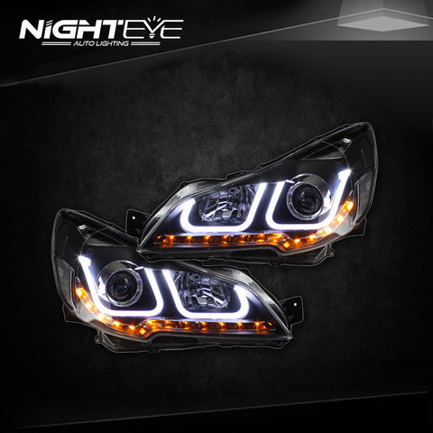 NightEye Outback Headlights 2010-2014 New Outback LED Headlight