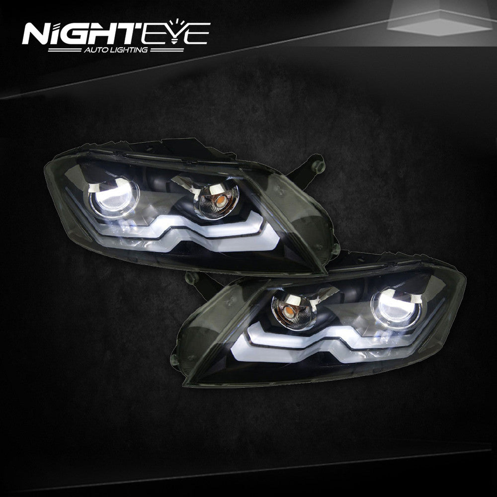 NightEye Passat B7 LED Headlights 2012-2015 VW Passat LED Headlight