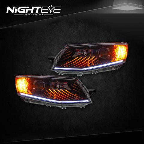NightEye Skoda Octavia Headlights 2014-2015 New Octavia LED Headlight