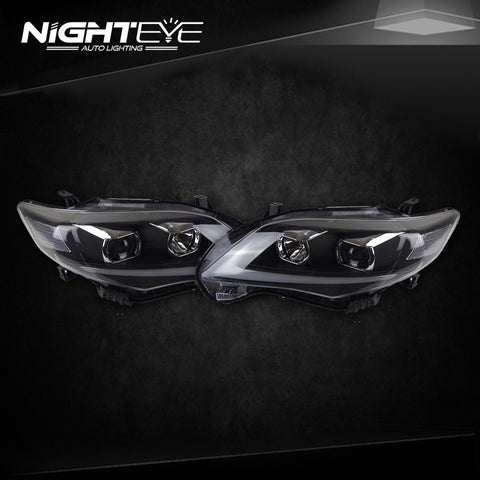 NightEye Toyota Corolla Headlights 2011-2013 Altis LED Headlight