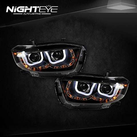 NightEye Toyota Highlander Headlights 2007-2011 LED Headlight