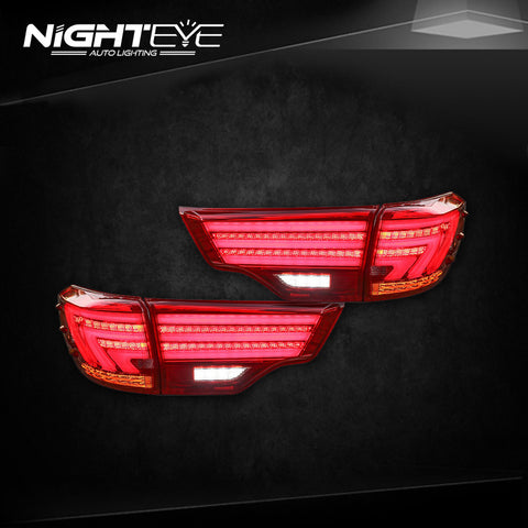 NightEye Toyota Highlander Tail Lights 2015 New Kluger LED Tail Light