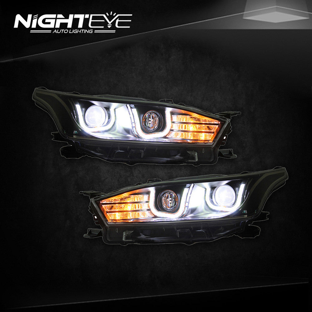 NightEye Toyota Yaris Headlights 2014-2015 New Yaris LED Headlight