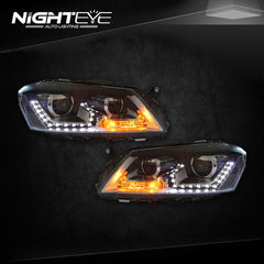 NightEye Car Styling for Volks Wagen Passat Headlights New Passat B7 LED Headlight DRL Bi Xenon Lens High Low Beam Parking Fog Lamp