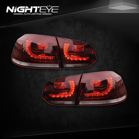 NightEye VW Golf 6 Tail Lights 2009-2012 Golf 6 R LED Tail Light