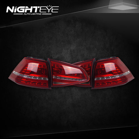 NightEye VW Golf 7 Tail Lights 2013-2015 Golf7 MK7 LED Tail Light