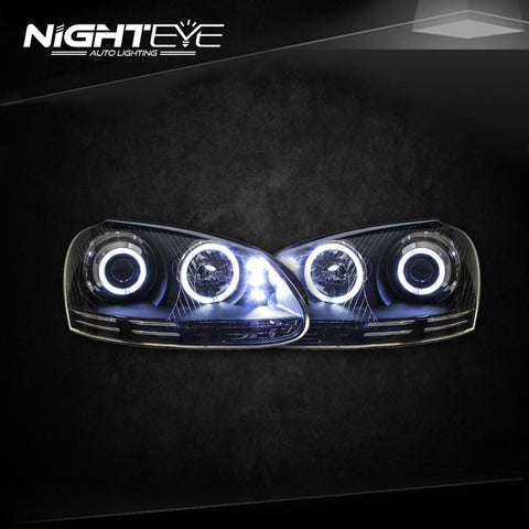 NightEye VW Jetta Headlights 2006-2010 Jetta Mk5 LED Headlight