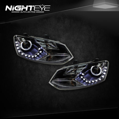 NightEye VW Polo GTI Headlights New Polo LED Headlight DRL Bi Xenon Lens Fog Lamp Accessories