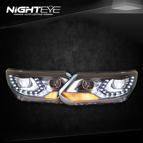 NightEye VW Tiguan Headlights 2013 New Tiguan LED Headlight LED DRL Bi Xenon Lens Headlight