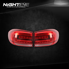 NightEye Car Styling for VW Tiguan Tail Lights 2013-2015 Volks Wagen New Tiguan LED Tail Light Rear Lamp DRL+Brake+Park+Signal - NIGHTEYE AUTO LIGHTING