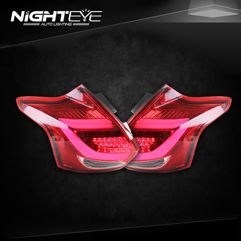 NightEye  Ford Focus Tail Lights Focus Hatch Back LED Tail Light Rear Lamp DRL+Brake+Park+Signal