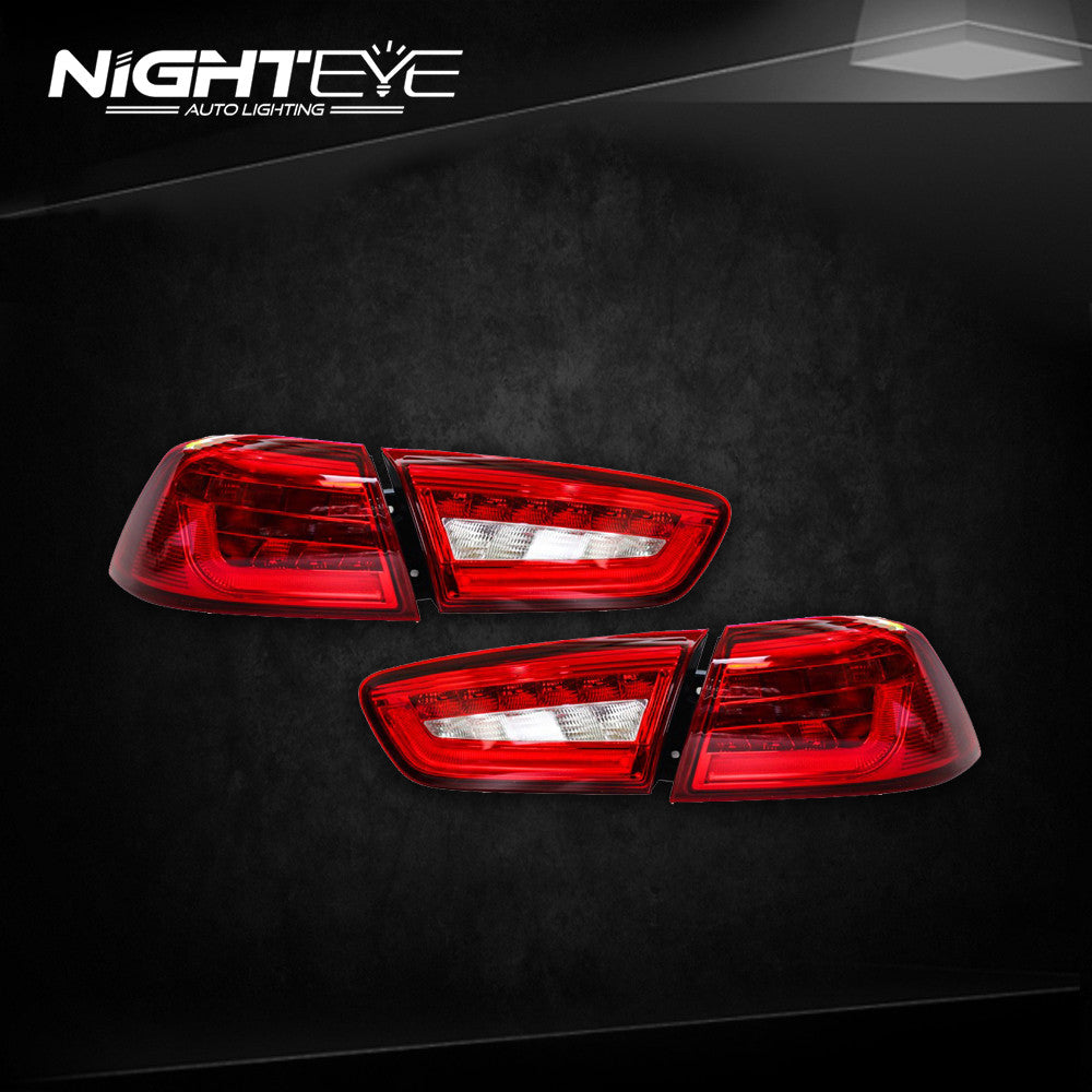 Car Tail Lights >> Nighteye Mitsubishi Lancer Ex Lancer Bmw Design Rear Lamp Tail Lights Drl Brake Park Signal