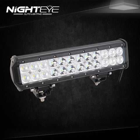 NIGHTEYE 72W 12 inch LED Work Light Bar