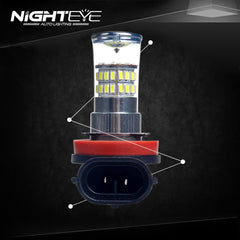 NIGHTEYE A263 Fog LIght 96W H11 - NIGHTEYE AUTO LIGHTING