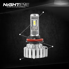 2016 NIGHTEYE 9000LM 70W 6000K Car LED Headlights CREE Lumileds CSP LED Chips H11