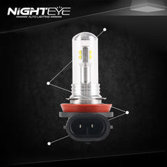 2016 NIGHTEYE Car-styling A Pair of Car 9 LED Fog Lights Bright White Lamps Left & Rights H16 - NIGHTEYE AUTO LIGHTING