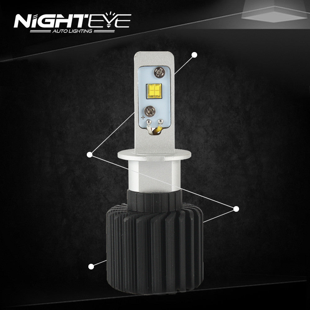 Nighteye 12000LM H3 LED Car LED Car Headlight