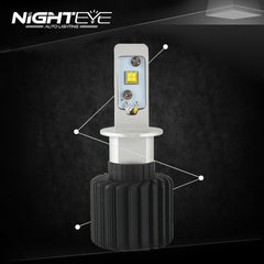Nighteye 12000LM H3 LED Car LED Car Headlight - NIGHTEYE AUTO LIGHTING