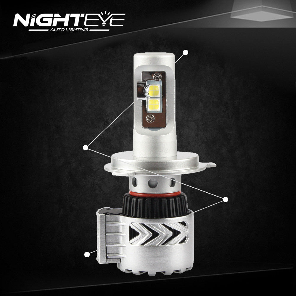 Nighteye auto lighting automotive led headlight conversion kit nighteye 12000lm h4 led car led car headlight parisarafo Images