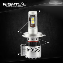 Nighteye 12000LM H4 LED Car LED Car Headlight - NIGHTEYE AUTO LIGHTING
