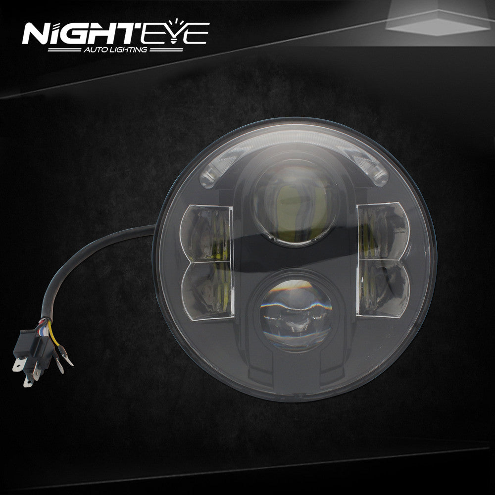 1 Set NIGHTEYE Brand 7inch  60W Hi/Low Beam LED headlight for Harley Jeep