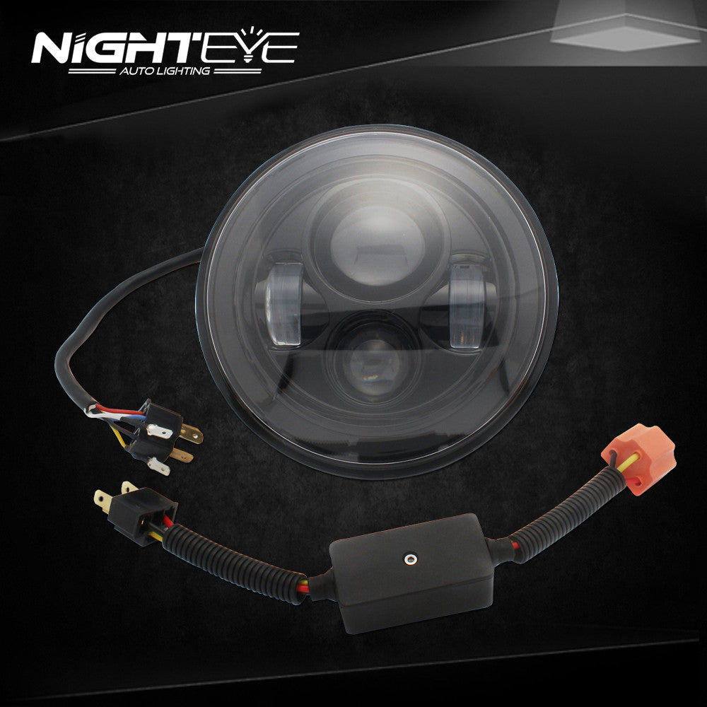 1 Sets Nighteye Brand  LED Headlamp with high-brightness  For Harley Jeep