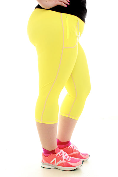 Colorful Running Capri