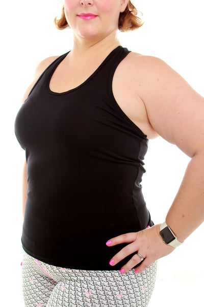 Luscious Bamboo Yoga Top - Black