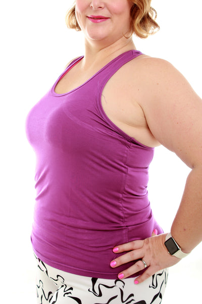 Luscious Bamboo Yoga Top - Purple