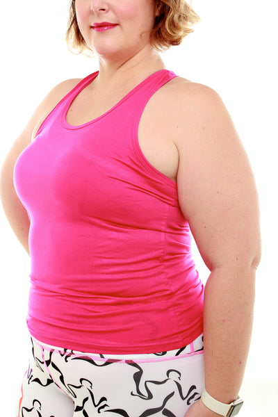 Luscious Bamboo Yoga Top - Pink