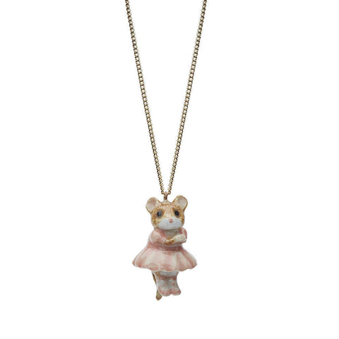 AND MARY - Ceramic Jewellery - Ballerina Mouse