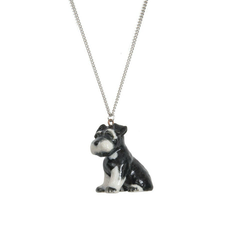 AND MARY Ceramic Jewellery Schnauzer Pendant