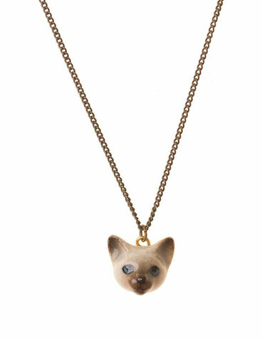 AND MARY Fashion Jewellery Cat Face Pendant