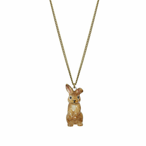 AND MARY Fashion Jewellery Cute Brown Bunny Pendant
