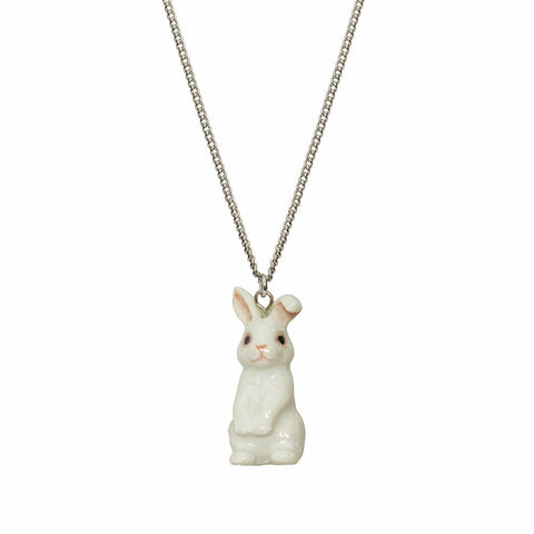 AND MARY Fashion Jewellery Cute White Bunny Pendant