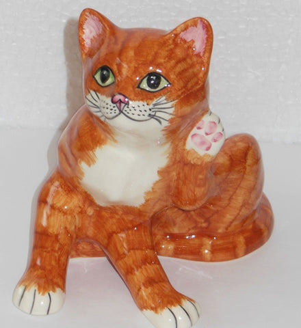 "Babbacombe Pottery – ""Ginger Cat Scratching"""