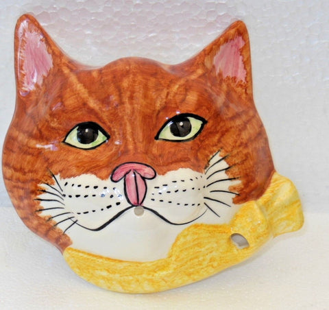 Babbacombe Pottery Ginger Cat head String Dispenser