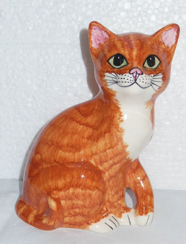 "Babbacombe Pottery – ""Ginger Kitten with Paw Up"""