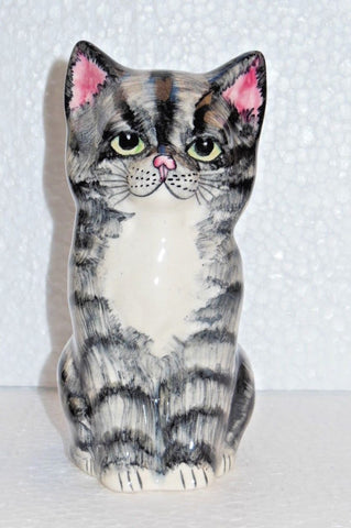 Babbacombe Pottery Grey Humbug Fluffy Kitten