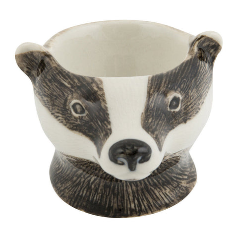 Badger Face Egg Cup from Quail Ceramics