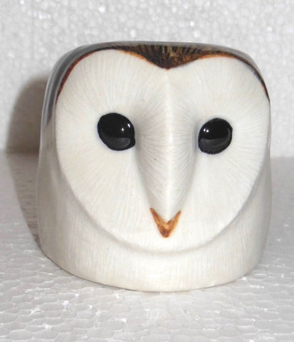 Barn Owl Face Egg Cup from Quail Ceramics