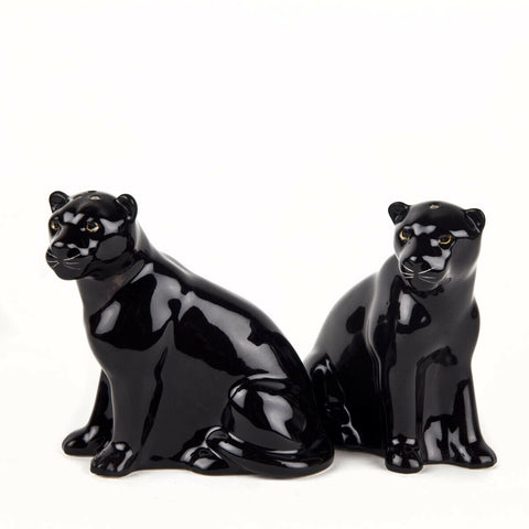 Quail Ceramics: Salt & Pepper Pots: Black Panthers
