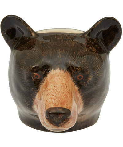 Black Bear Face Egg Cup from Quail Ceramics