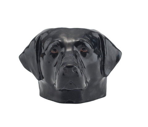 Black Labrador Face Egg Cup from Quail Ceramics