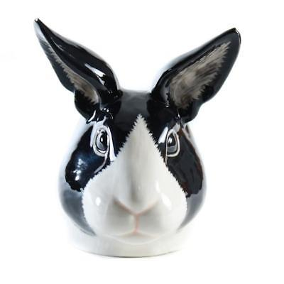 Quail Ceramics: Face Egg Cup: Dutch Rabbit - Black & White
