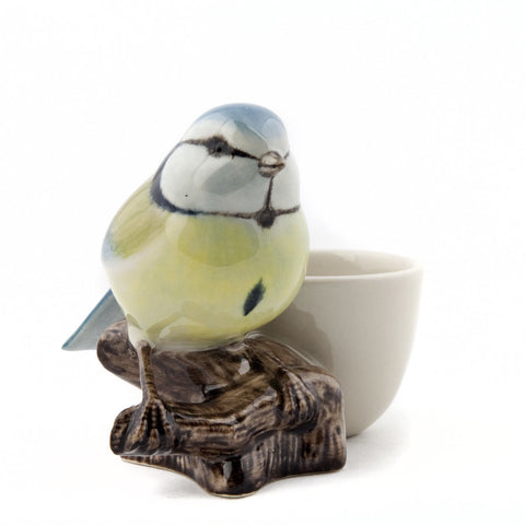 Bluetit with Egg Cup from Quail Ceramics